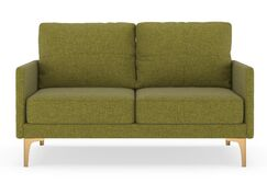 Crompton Loveseat Upholstery: Aubergine, Finish: Brass
