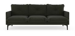 Crossen Sofa Upholstery: Blue Lagoon, Finish: Chrome