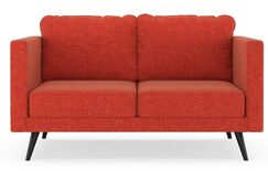 Criswell Loveseat Upholstery: Cayenne, Finish: Chrome