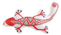 Hollowell Animal Alphabet Gecko Throw Pillow