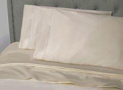 Haislip 400 Thread Count 100% Cotton Sheet Set Size: Queen, Color: Tan