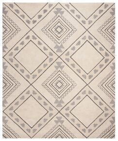 Matherly Hand-Tufted Ivory/Gray Area Rug Rug Size: Rectangle 5' x 8'