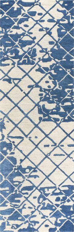 Lovelace Hand-Woven Wool Denim Area Rug Rug Size: Runner 2'6