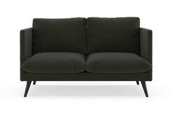 Labounty Loveseat Finish: Black, Upholstery: Dijon