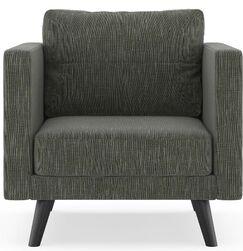 Crisfield Armchair Finish: Black, Upholstery: Spruce Gray