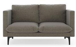 Crofoot Loveseat Upholstery: Ocean Gray, Finish: Brass
