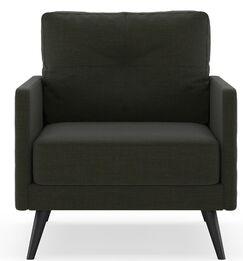 Croker Armchair Upholstery: Fog, Finish: Brass