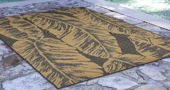 Hunley Banana Leaf Gray/Beige Indoor/Outdoor Area Rug Rug Size: Rectangle 3'3