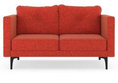 Ruppe Loveseat Upholstery: Aubergine, Finish: Black