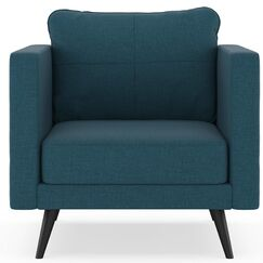 Criswell Armchair Finish: Brass, Upholstery: Yale Blue