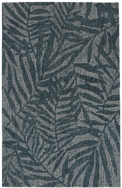 Claremont Olive Branches Hand-Woven Wool Gray Area Rug Rug Size: Rectangle 7'5