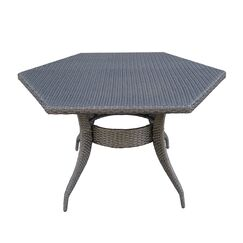 Shanika Wicker Dining Table Color: Gray