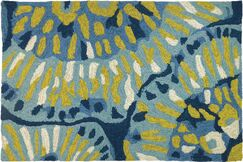 Eastland Floral Hand-Woven Blue/Green Indoor/Outdoor Area Rug Rug Size: Rectangle 1'1