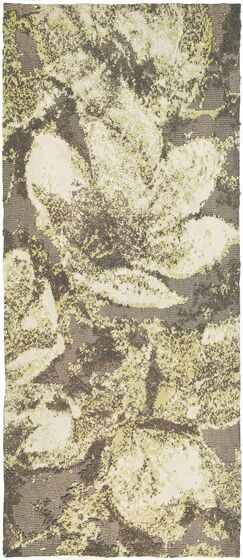 Hansley Magnolias in Bloom Gray Area Rug Rug Size: Runner 2'2