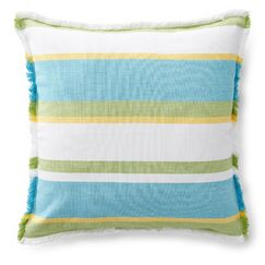 Gemma Woven Stripe Cotton Throw Pillow