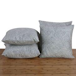 Jaxon Paisley Suede Throw Pillow Color: Harbor