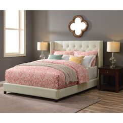 Lawing Queen Upholstered Platform Bed Color: Snow