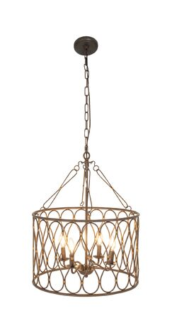 Chartres Modern Round Candle Chandelier Size: 25