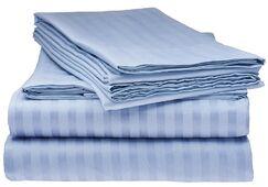 Kawakami Premium Deep Pocket Bed Microfiber Sheet Set Color: Light Blue, Size: Queen