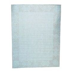One-of-a-Kind Lausanne Hand-Knotted Sky Blue Area Rug