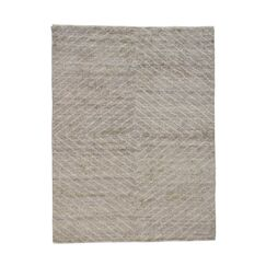 One-of-a-Kind Idris Diamond Hand-Knotted Gray Area Rug