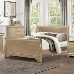Sleigh Bed Size: King