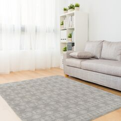 Puleo Gray Area Rug Rug Size: Rectangle 2' x 3'