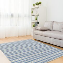 Evins Blue/Gray Area Rug Rug Size: Rectangle 8' x 10'