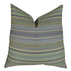 Lemuel Stripe Chartreuse Pillow Fill Material: H-allrgnc Polyfill, Size: 26