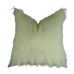 Jowett Curly Mongolian Faux Fur Pillow Fill Material: H-allrgnc Polyfill, Size: 12
