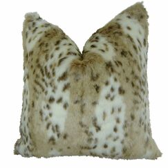 Phipps Leopard Faux Fur Pillow Fill Material: Cover Only - No Insert, Size: 20