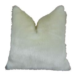 Jourdan Mink Faux Fur Pillow Fill Material: Cover Only - No Insert, Size: 20