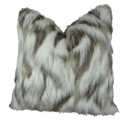 Wafer Luxury Fox Faux Fur Pillow Size: 22