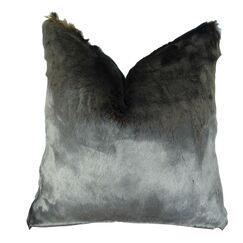 Juarez Luxury Tissavel Amber Faux Fur Pillow Fill Material: H-allrgnc Polyfill, Size: 22