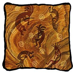 Willilams Kokopelli the Ancient Ones Cotton Throw Pillow