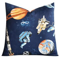 Ibanez Kids Space Astronaut Print Decorative Pillow Cover