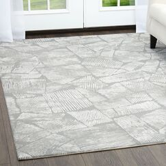 Rowe Gray Area Rug Rug Size: Rectangle 7'10