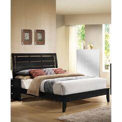 Goodrum Minimal Slatted Panel Bed Size: Eastern King