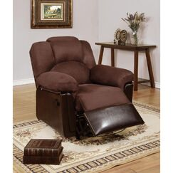 Taslitt Manual Rocker Recliner Upholstery: Chocolate Brown