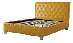 Desirae Polyurethane Upholstered Panel Bed Size: California King, Color: Citrus Yellow