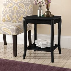 Alberts Side Table Color: Black