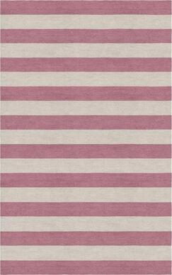Mcleod Stripe Hand-Woven Wool Silver/Purple Area Rug Rug Size: 6' x 9'
