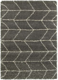Hollymead Gray Area Rug Rug Size: Rectangle 7'10