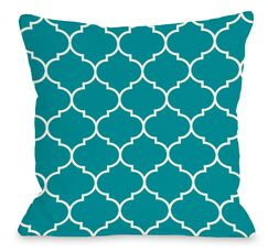 East Village Repeating Moroccan Outdoor Throw Pillow Size: 18
