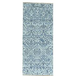 One-of-a-Kind Ledford Undyed Natural Hand-Knotted Ivory Area Rug