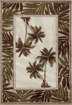 Kolb Frond Green/Brown Area Rug Rug Size: Rectangle 6'7