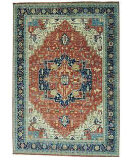 One-of-a-Kind Saltford Re-creation Hand-Knotted Rust Red Area Rug