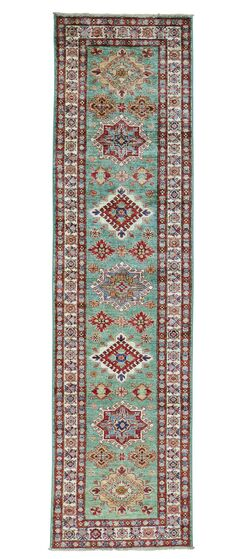 One-of-a-Kind Latimore Overdyed Hamadan Worn Hand-Knotted Teal/Red Area Rug