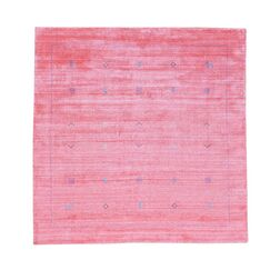 One-of-a-Kind Siegel Modern Hand-Knotted Pink Area Rug