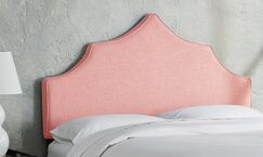 Sutcliffe Upholstered Panel Headboard Size: Twin, Color: Petal